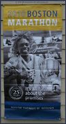 Boston Marathon 2010 Banner African Woman Showing Front And Rear Rare 60 X 30 Ln