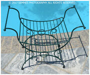 Bench/towel Holder/seat/indoor/outdoor Newly Powder Coated Flawless New Vintage