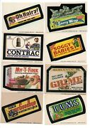 Wacky Packages 1974 Series 7 Complete Set Of 33 And Complete Puzzle-checklist Set