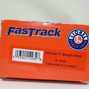 Lionel Fastrack O Gauge 4 Pack 10 Straight Train Track 6-12032 Hobby