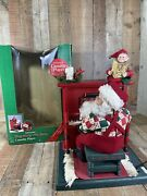 Holiday Creations Animated Lighted Motion Musical Sing Along With Santa Works