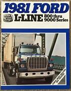 Ford L-line Usa Commercial Sales Brochure For 1981 Fdt-8120 8/80