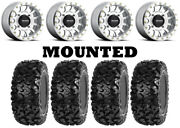 Kit 4 Sedona Rip Saw Tires 26x9-14/26x11-14 On Method 401 Beadlock Machined Can