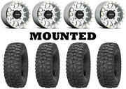 Kit 4 Sedona Rock-a-billy Tires 30x10-14 On Method 401 Beadlock Machined Can