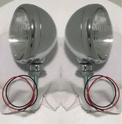 12 Volt 6 Clear Ge Sealed Beam Fog Running Lights For Big Fender Autos 4