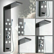 Wall Mount Bathroom Shower Panel System Faucet Andlcd Display Andrainfall Spray Head