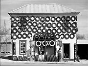 Firestone Gas Station Used Tires 1940s San Marcos Tx. Lee Vintage Photo Reprint
