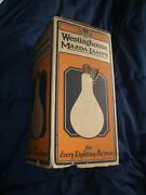Antique Westinghouse Mazda Lamp Bulb 1000w Nos New Old Stock In Box