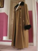 Mansfield Vintage Riding Coat Victorian Trench Great 30s 40s 14 16 Duster Flare