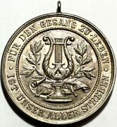 Germany - To Live For Singing Is Our Goal - Large 40mm Medal - June 19th, 1905