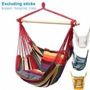 Portablex Hammock Canvas Swing Hanging Rope Chair For Garden, Indoor Or Camping
