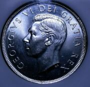 1949 Canada One Dollar Silver Ms65 Ngc Unc 53-719