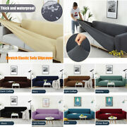 1/2/3/4 Seater Stretch Waterproof Slipcovers Soft Couch Sofa Cover Protector