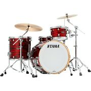 Tama Starclassic Walnut/birch 3-piece Shell Pack With 22 Bass Drum Red Oyster