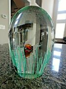 Doorstop 7 Large Fratelli Toso Murano Art Glass Fish Seaweed Paperweight 8.7lbs