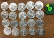 1999 Bu Silver Eagle Roll Of 20 Some Pretty Toning