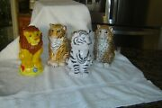 Ringling Brothers Barnum And Bailey Circus 4 Types Of Lions Tigers Souvenir Cups
