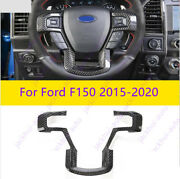 Real Carbon Fiber Steering Wheel Cover Trim 1pc For Ford F150 2015-2021