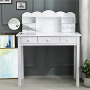 Writing Desk Home Office Computer Desk Drawers And Hutch Study Table - White