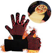 Heat Resistant Grill Gloves Silicone Grill Bbq Oven Mitts 1472℉ Extreme Kitchen