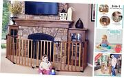 3 In 1 Wood Superyard 151 Long Extra Wide Baby Gate, Barrier Or Play Yard.