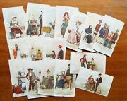 Lot Of 16 Old Antique 1890s Singer Sewing Machine Foreign Countries Trade Cards