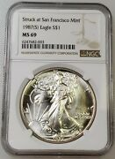 1987 S Silver American Eagle / Ngc Ms69 / Struck At The San Francisco Mint