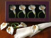 Calla Lily Napkin Ring Holders Set Of 4