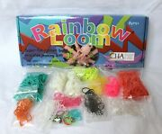 Rainbow Loom Craft Kit Rubber Band Bracelets With 12+ Colored Bands Euc