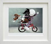 Riding High By Doug Hyde. Framed - New With Coa In Stock Quick Delivery