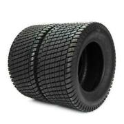 Set Of 2 Lawn Mowers 4 Ply 16x6.50-8 Turf Tires Tubeless Tractor