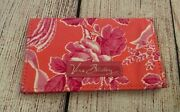 Vera Bradley Card Case In Hope Toile - Mini Wallet - Pink, Floral, Ribbons