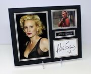 Alice Evans Signed Mounted Sexy Photo Display Aftal Rd Coa American Actress