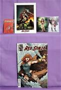45th Anniversary Red Sonja Comic Trading Card Lithograph Pin Dynamite, 2016