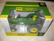 116 John Deere 4020 Wf Diesel Tractor And Engine Museum 45415a Wrops 3-pt Hitch