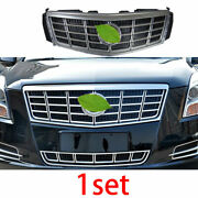 For 2013-2015 Cadillac Xts Silver Front Center Mesh Grille Grill Cover Trim 1pcs