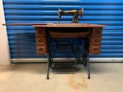 Antique Singer Sewing Machine With Table 1921 Refurnished