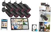 [all-in-one] Wireless Home Security Camera System 8ch 15.6inch Monitor Nvr Kits