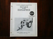 Sears Plow For Sears Suburban Or Custom Riding Tractor 917.60652 Parts List++++