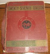 Vtg 27th Division Pictorial History Us Army Fort Mcclellan 1940-1941 Red Leather
