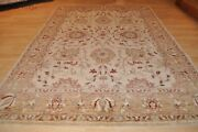 5x7 Ft. Handmade Oriental Top Quality Muted And Soft Beige Gray Green Blue Colors