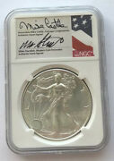 2020 1oz Silver Eagle Ngc Ms70 Er Mike Castle Mike Standish Signature Top 45