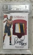 Reggie Miller 2016-17 Flawless Game Worn Ruby Patch Auto And039d 12/12 Bgs 9 10