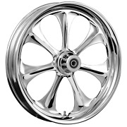 180 Fat Tire 21 X 5.5 Atomic Chrome Wheel Package - 2000-19 Harley Touring Flh