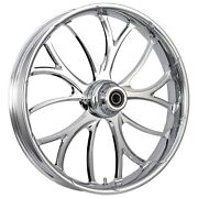 Fat Tire 21 X 5.5 Electron Chrome Wheel Package - 2000-19 Harley Touring Models