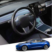 Blue Real Carbon Fiber Interior Accessories Whole Kit Covers For Tesla Model 3