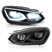 For 10-14 Golf Mk6 And Golf R With Drl Full Led Headlights Assembly Mk8 Style