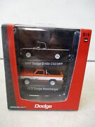 Greenlight Road Racers 1966 Dodge D-100 Css/hpp And 1978 Dodge Ram Charger