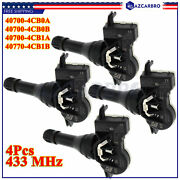 40700-4cb0a Tpms Tire Pressure Sensor 433 Mhz For 16-17 Nissan Rogue Snap In