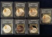 Canada 1991-1994 Proof 20 Dollars Silver Coins Certified Pcgs Pr69-deep Cameo
